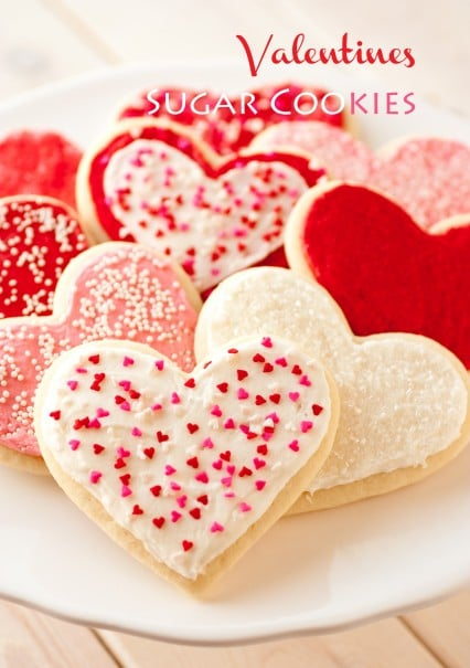 These Soft Valentine's Day Sugar Cookies are almost too cute to eat!