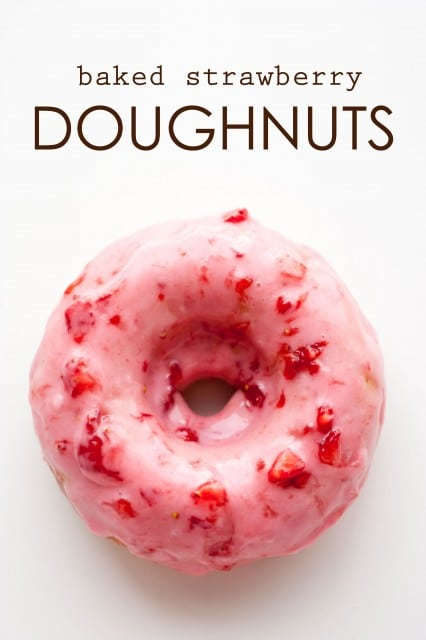 baked strawberry doughnuts with strawberry glaze4