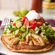slow cooker chicken tostadas5