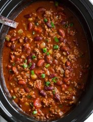 Best homemade Chili in a crockpot.