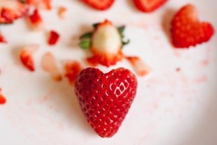 strawberry hearts step 2