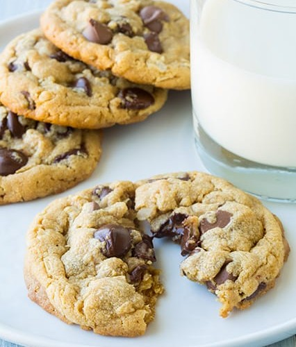 Browned Butter Peanut Butter Oatmeal Chocolate Chip Cookies