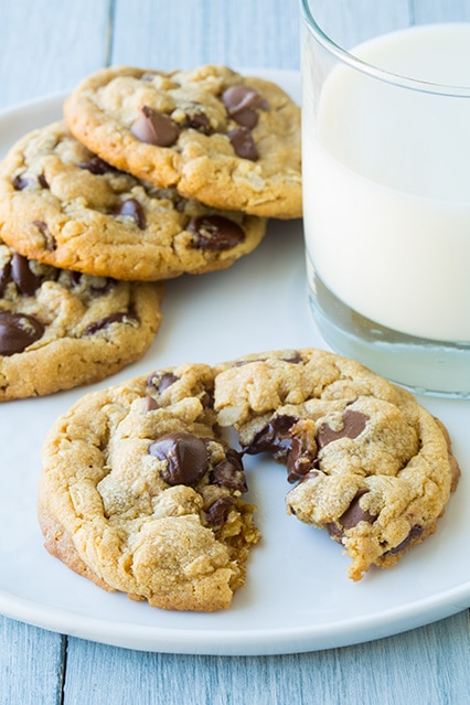 browned butter peanut butter oatmeal chocolate chip cookies7..