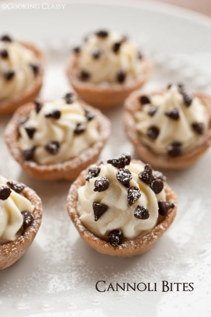Cannoli Bites {Cooking Classy}