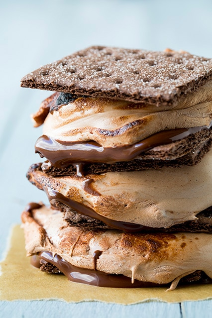 chocolate lovers s'mores - even non s'mores lovers will LOVE these! completely divine!