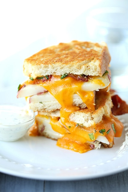 Ranch Potato Grilled Cheese Sandwich