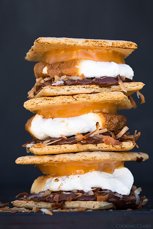 Samoa S'mores + plus tons of s'mores ideas | Cooking Classy
