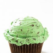 Chocolate Cupcakes with Mint Chocolate Chip Frosting | Cooking Classy