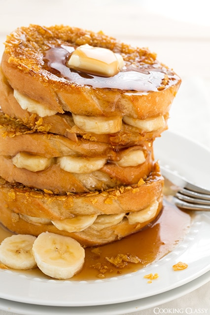 Banana Stuffed French Toast - Cooking Classy