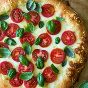 Four Cheese Caprese Pizza | Cooking Classy