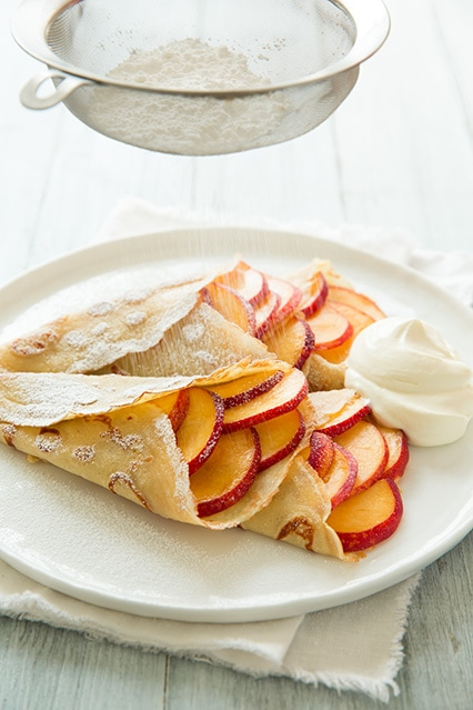 Peaches and Cream Crepes | Cooking Classy