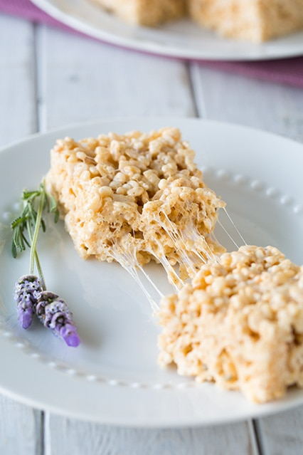 Lavender Vanilla Bean Rice Krispie Treats | Cooking Classy