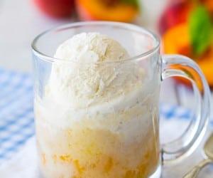 Peach Cobbler Mug Cake {5 Minute Recipe} | Cooking Classy
