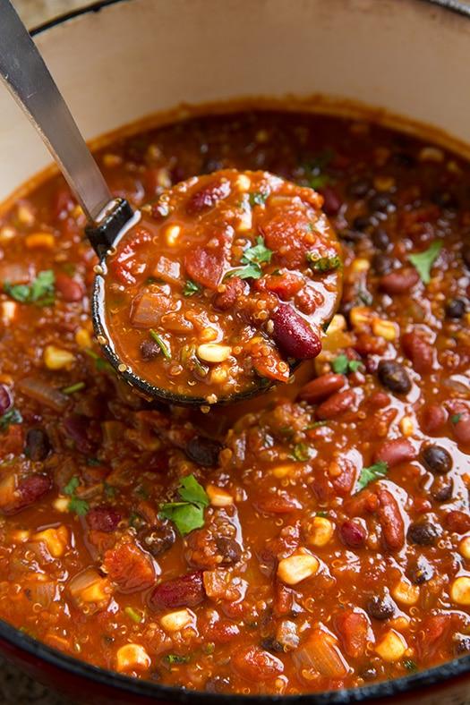 Quinoa Chili {Vegetarian} - Cooking Classy