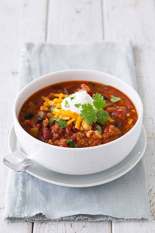 quinoa chili yield about 6 servings ingredients 2 cups cooked quinoa ...