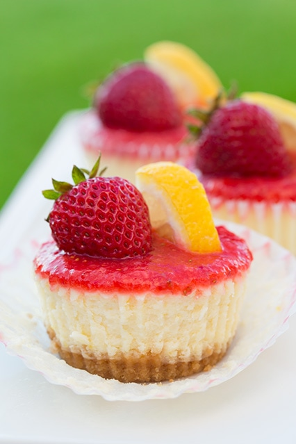 Strawberry Lemonade Cheesecake Cupcakes - Cooking Classy