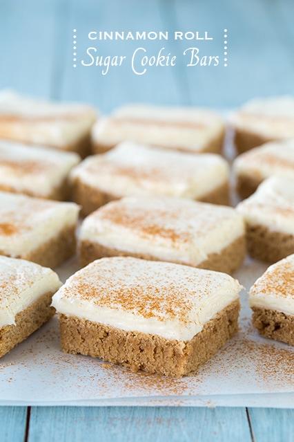Cinnamon Roll Sugar Cookie Bars | Cooking Classy