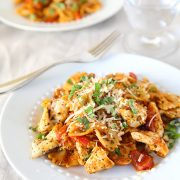 Chicken Bruschetta Pasta and Kraft Recipe Makers