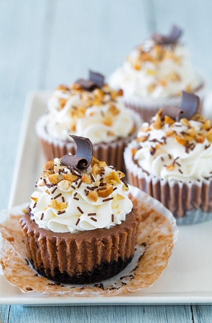 Nutella Cheesecake Cupcakes | Cooking Classy
