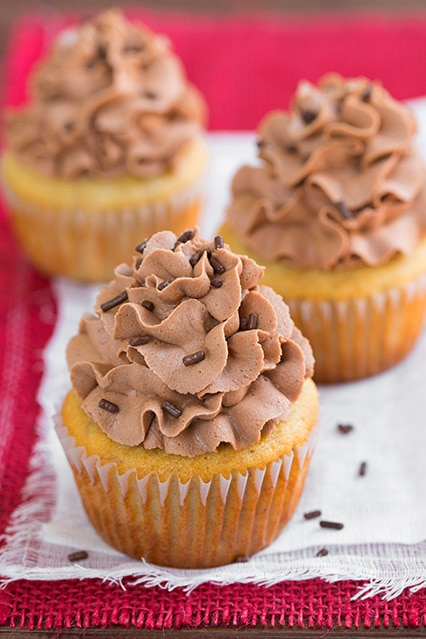 Banana Cupcakes with Nutella Buttercream Frosting | Cooking Classy