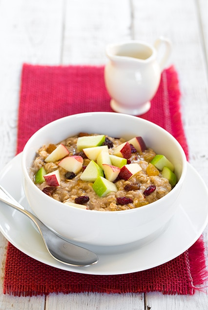 Fall Spiced Apple Cran-Raisin Oatmeal
