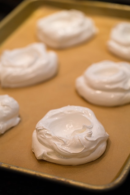 Pavlovas before baking