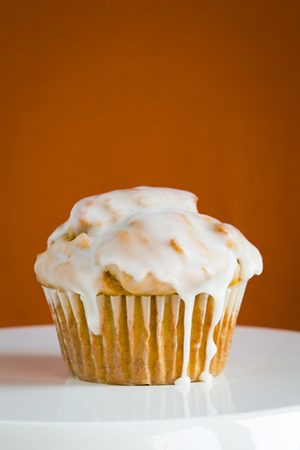 Vanilla Glazed Pumpkin Muffins Recipe — Dishmaps