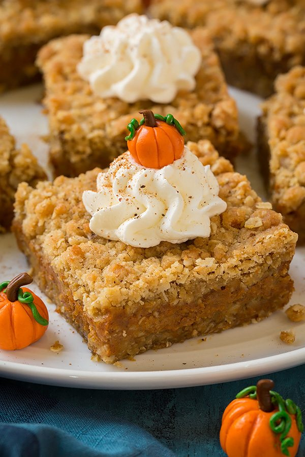 Pumpkin Pie Crumb Bars - Cooking Classy
