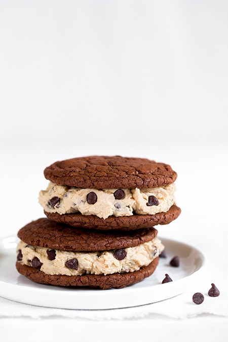 Brownie Sandwich Cookies with Cookie Dough Frosting | Cooking Classy