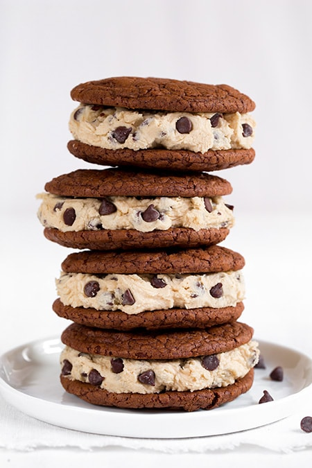 Brownie Sandwich Cookies with Chocolate Chip Cookie Dough Frosting ...