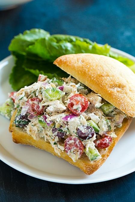 Greek Chicken Salad Sandwiches Cooking Classy