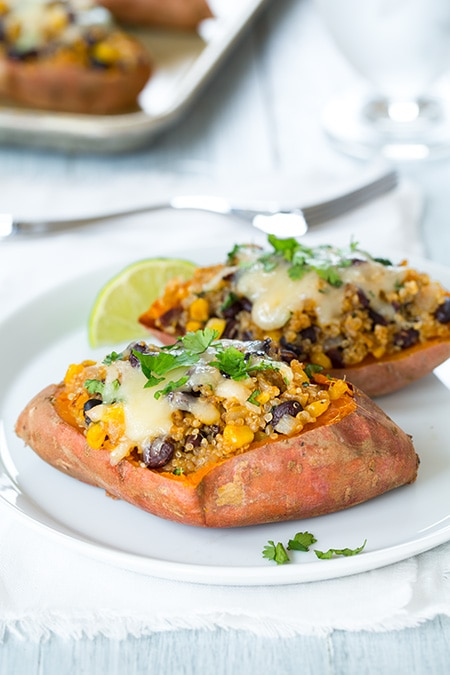 Honey-Lime Quinoa Stuffed Sweet Potatoes | Cooking Classy