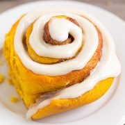 Pumpkin Cinnamon Rolls with Cream Cheese Icing | Cooking Classy