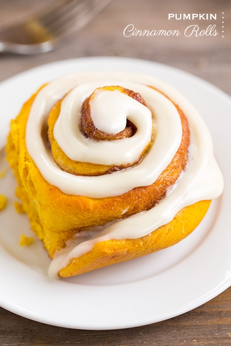 Pumpkin Cinnamon Rolls with Cream Cheese Icing   Cooking Classy