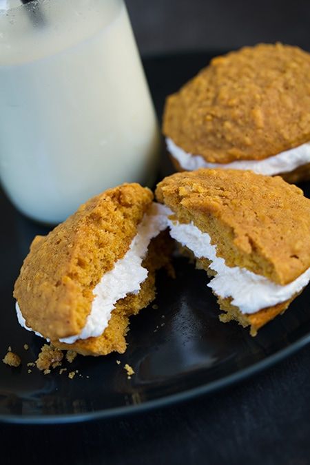 Pumpkin Oatmeal Cream Pies | Cooking Classy