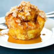 Pumpkin French Toast Muffins with Cinnamon Steusel Topping | Cooking Classy