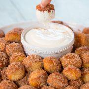 Copycat Auntie Anne's Cinnamon Sugar Pretzel Bites | Cooking Classy