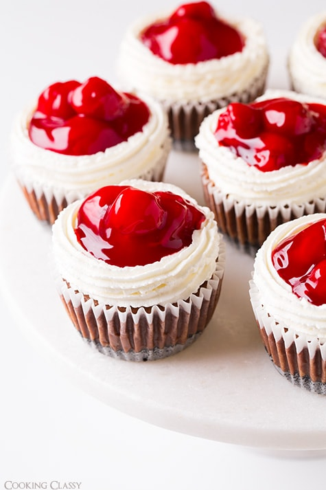 Black Forest Cheesecake Cupcakes | Cooking Classy