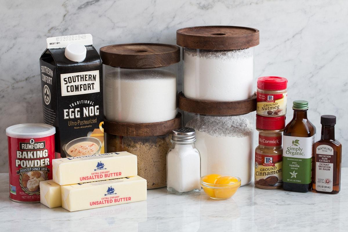 Ingredients needed for eggnog cookies