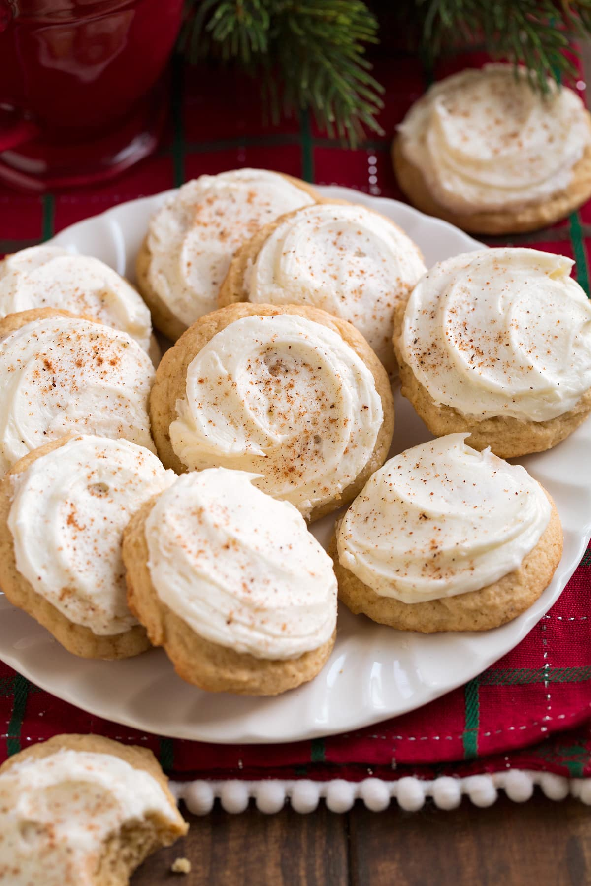 Eggnog Cookies {Melt-in-Your-Mouth}