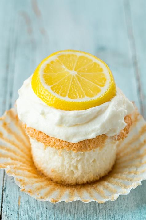 Lemon Angel Food Cupcakes | Cooking Classy
