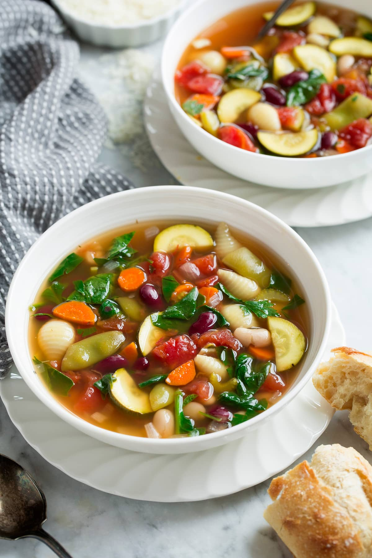 Minestrone Soup (Slow Cooker or Stovetop)