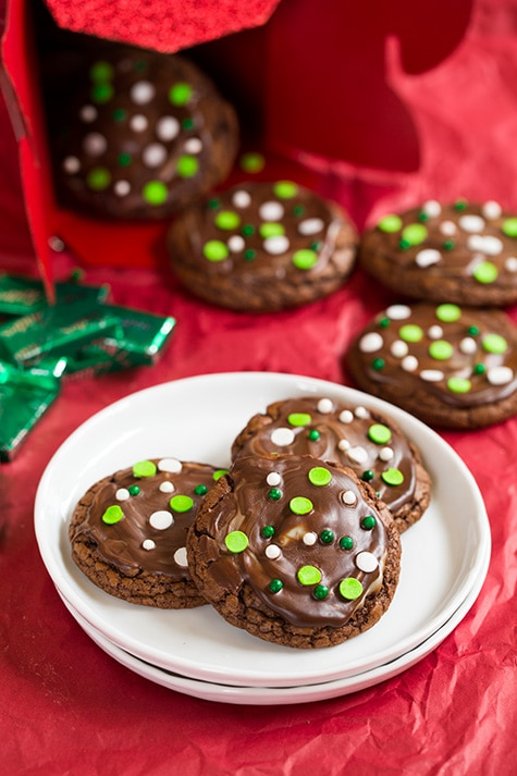 Andes Mint Cookies | Cooking Classy