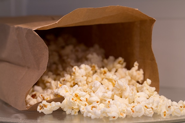 How to make popcorn using a brown paper bag in the microwave | Cooking Classy