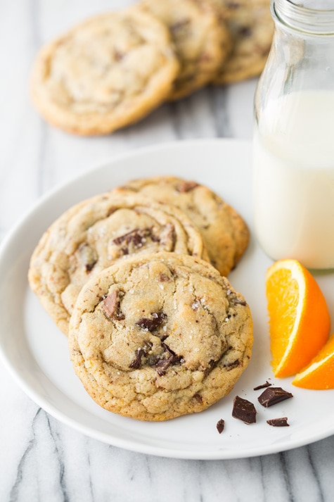 Orange, Chocolate Chunk and Sea Salt Cookies | Cooking Classy