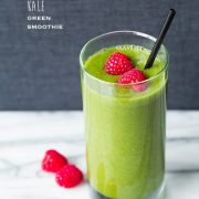 Raspberry Kale Green Smoothies | Cooking Classy