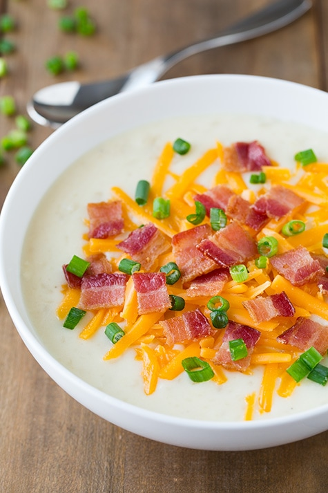 Slow Cooker Loaded Potato Soup | Cooking Classy