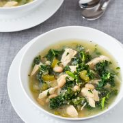 Slow Cooker Quinoa, Chicken and Kale Soup | Cooking Classy