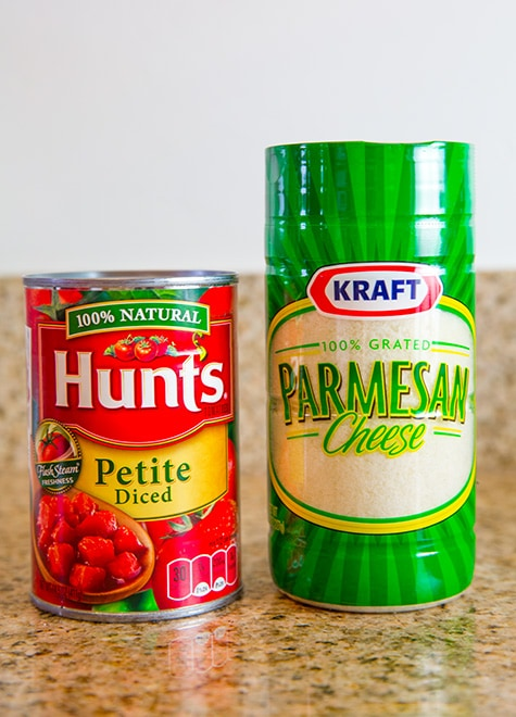 Kraft Parmesan Cheese and Hunt's Tomatoes