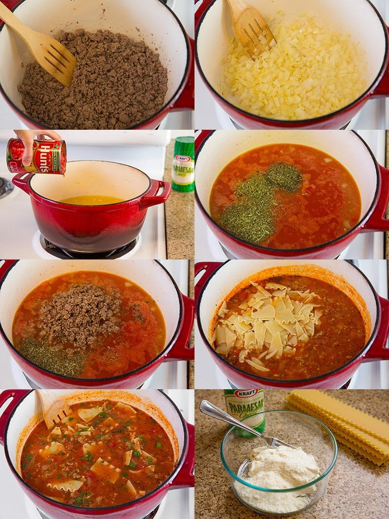 lasagna soup alltogether